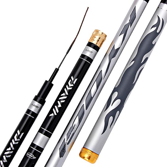 Robben Super Hard Carbon Fiber Hand Fishing Pole Telescopic Fishing Rod 3.6M/7.2M Stream Rod