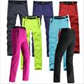 fishing camping hiking softshell pants women outdoor fleece Skiing trousers waterproof windproof thick warm camping pants