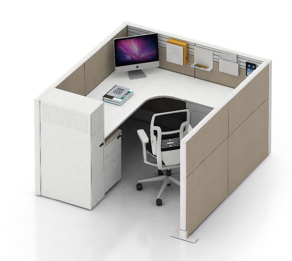 Contemporary Office Cubicles 1/2/3/4/6 Person Office Partition cubicle workstation environmentally friendly materials table