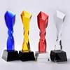 Twist column crystal trophy