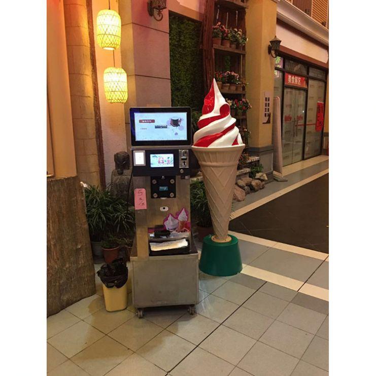 Промышленный торговый автомат для мороженого с монетами
