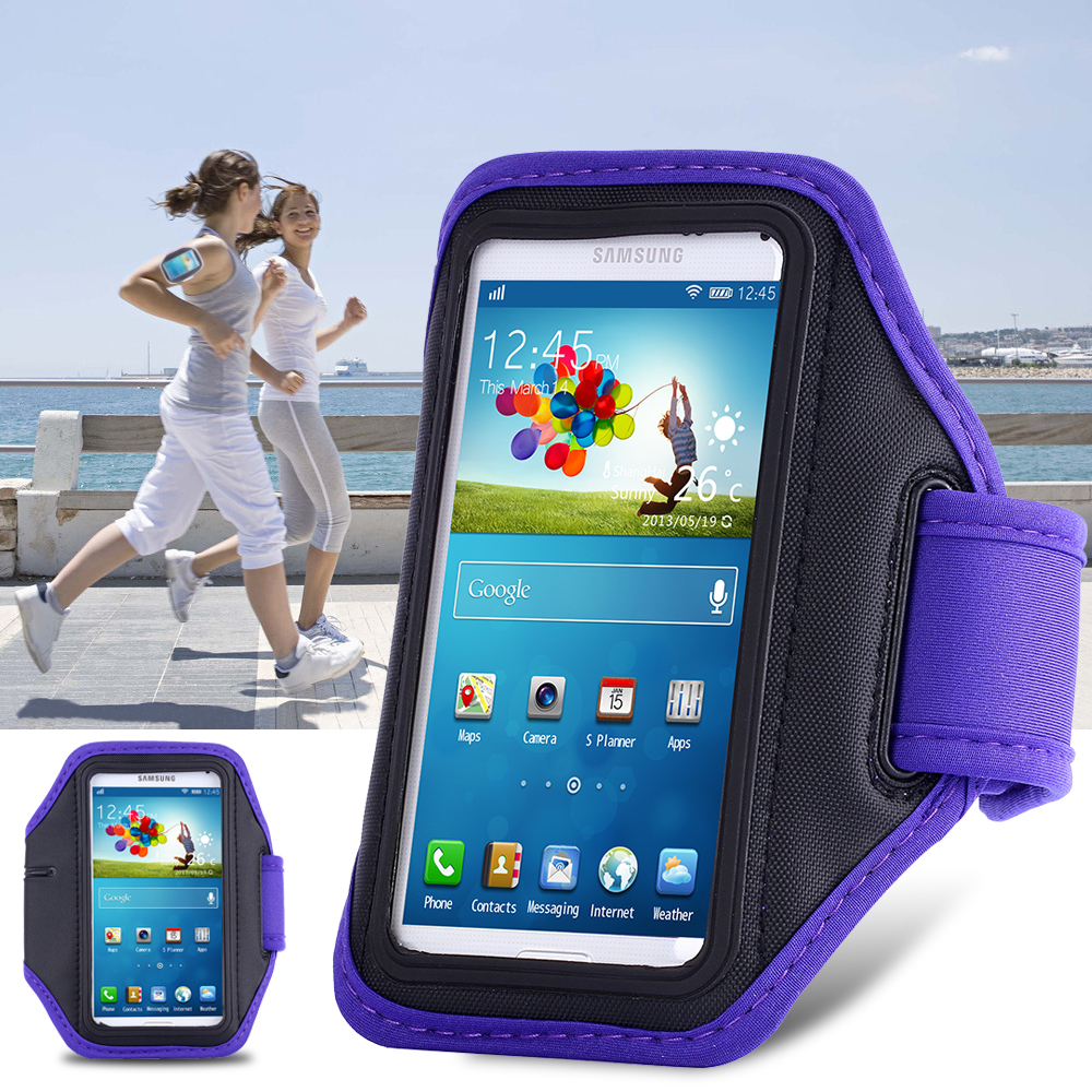 timeless design 795f0 159ae Waterproof Sports Running Armband Leather Case For Samsung Galaxy S5 S4 S3  Mobile Phone Holder Pounch Belt GYM Fashion