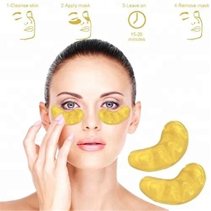 Кристаллическая блеск маска для глаз 24k Золотая маска для глаз в Корейском стиле гидрогеля
