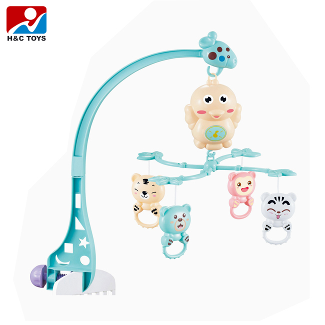 Wholesale eco-friendly plastic musical baby crib mobile with rattle toys HC406397