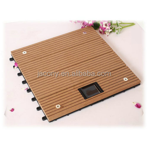 Solar Powered Diy Outdoor Wpc Decking Floor Tile Jl 5530