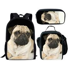 THIKIN 3 шт./компл., милый детский рюкзак с принтом кота, 3D школьная сумка с животными для девочек, индивидуальная школьная сумка в начальной тет...(Китай)