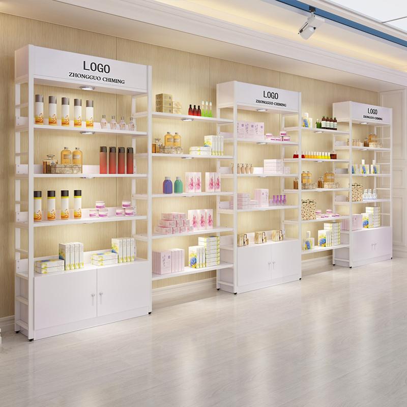 Настенный выставочный стенд для торговых центров под заказ, мебель для розничного магазина, шкаф для косметики и витрина