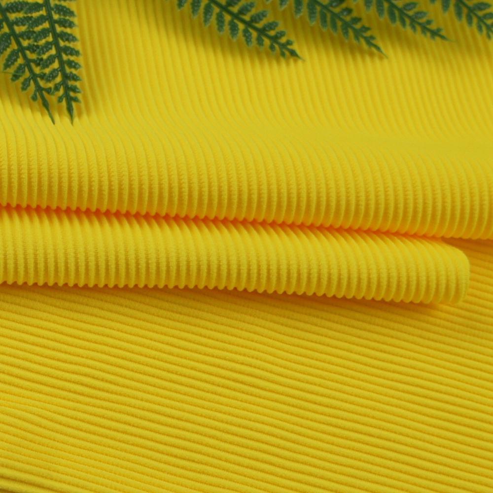 hot sale ribbed lycra weft knit polyamides spandex rib fabric for bikini
