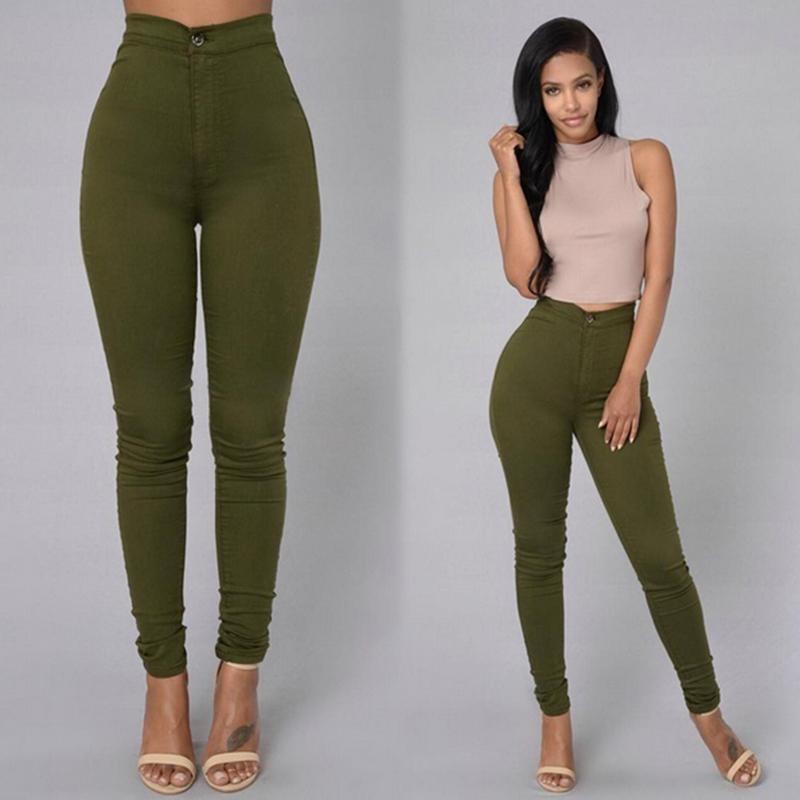 Pantalones De Tubo Elasticos Para Mujer Pantalon Ajustado Para Otono Buy Jean Trousers Female Pencil Jeans Stretch Pants Product On Alibaba Com
