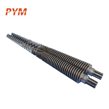 Extrusion barrel screw and film screw and barrel and high speed screw barrel