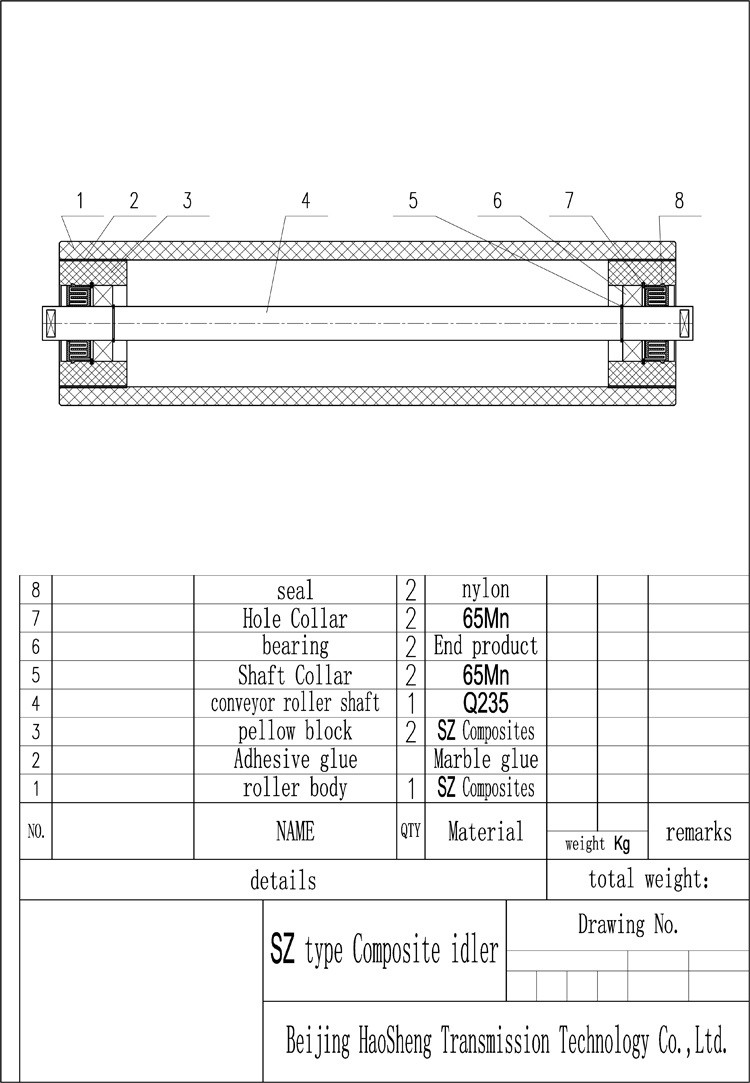 Belt Conveyor Carrier Roller Drum Return Roller Conveyor
