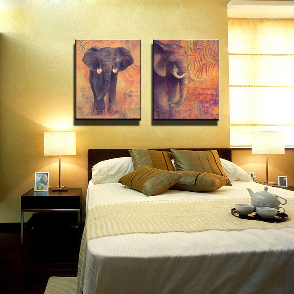 African Abstract modern wall art decor canvas prints for kids room home decoration wall art Animal painting of elephant abstract