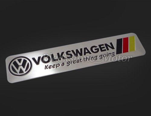 Volkswagen Aluminum Chrome Emblem Badge Decal Sticker For Vw Jetta Golf Gti Passat Rabbit R Beetle