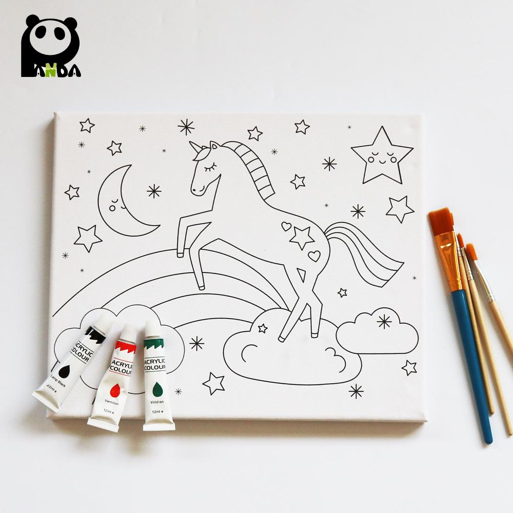 Los Niños De Dibujos Animados Pintura Al óleo Buy Pre Printed Canvas To Paint Children Pre Printed Canvas To Paint Cartoon Pre Printed Canvas To Paint Product On Alibaba Com