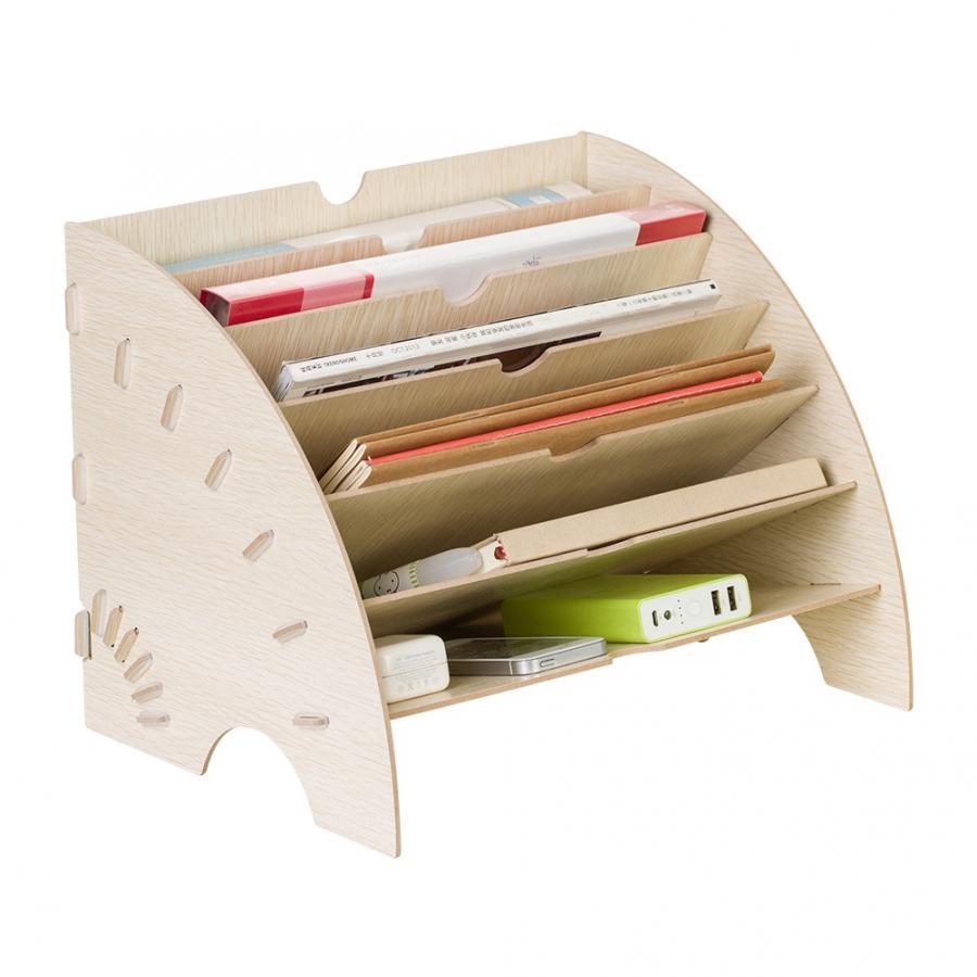 Полки, современная офисная витрина «сделай сам», стойка для журналов, органайзер для файлов, Настольный органайзер для сортировки документов, ванной комнаты