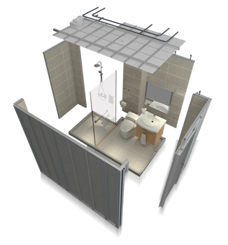 SALLY Prefabricated Bathroom Pods All In One Modular Bathroom Pods Prefabricated House With Shower Rooms Ready Made Bathroom Pod