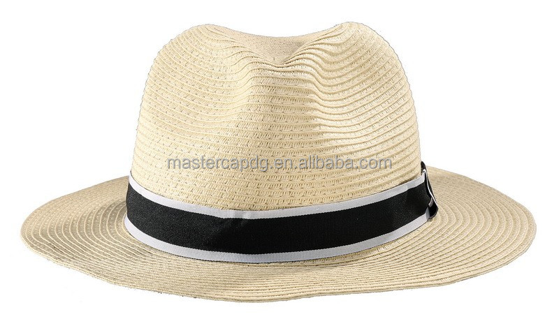 New Fashion Style Paper Straw White Bucket Hats Sun Floppy Straw Hat For Women