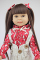 18 45CM AMERICAN PRINCESS Beauty Girl girl dolls for sale Brown Long hair FULL VINYL Reborn