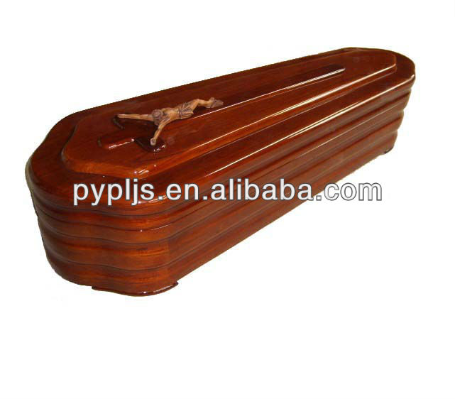 factory supply solid wood coffin E003SJTF