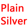 Plain silver