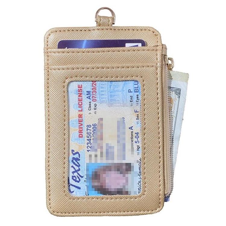 Искусственная кожа удостоверение личности, с браслетом, сумка, отделение для карт, на молнии, кошелек с 5 отделений для карточек для офисов ID, ID