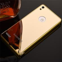 2016 New Arrival For Huawei Ascend P6 Case Luxury Mirror Metal Aluminum+Acrylic Hard Back Cover Phone Fundas Accessories Capa