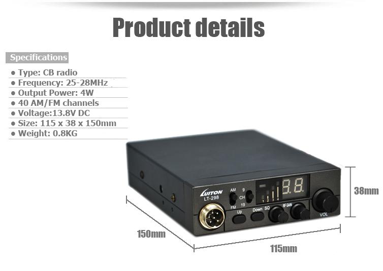 10 метр радио LT-298 cb радио 27 мгц