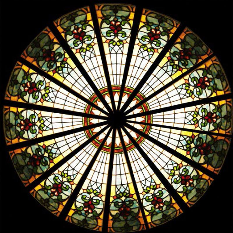 Tiffany glass ceiling Stained glass dome skylight for Cathedral/church