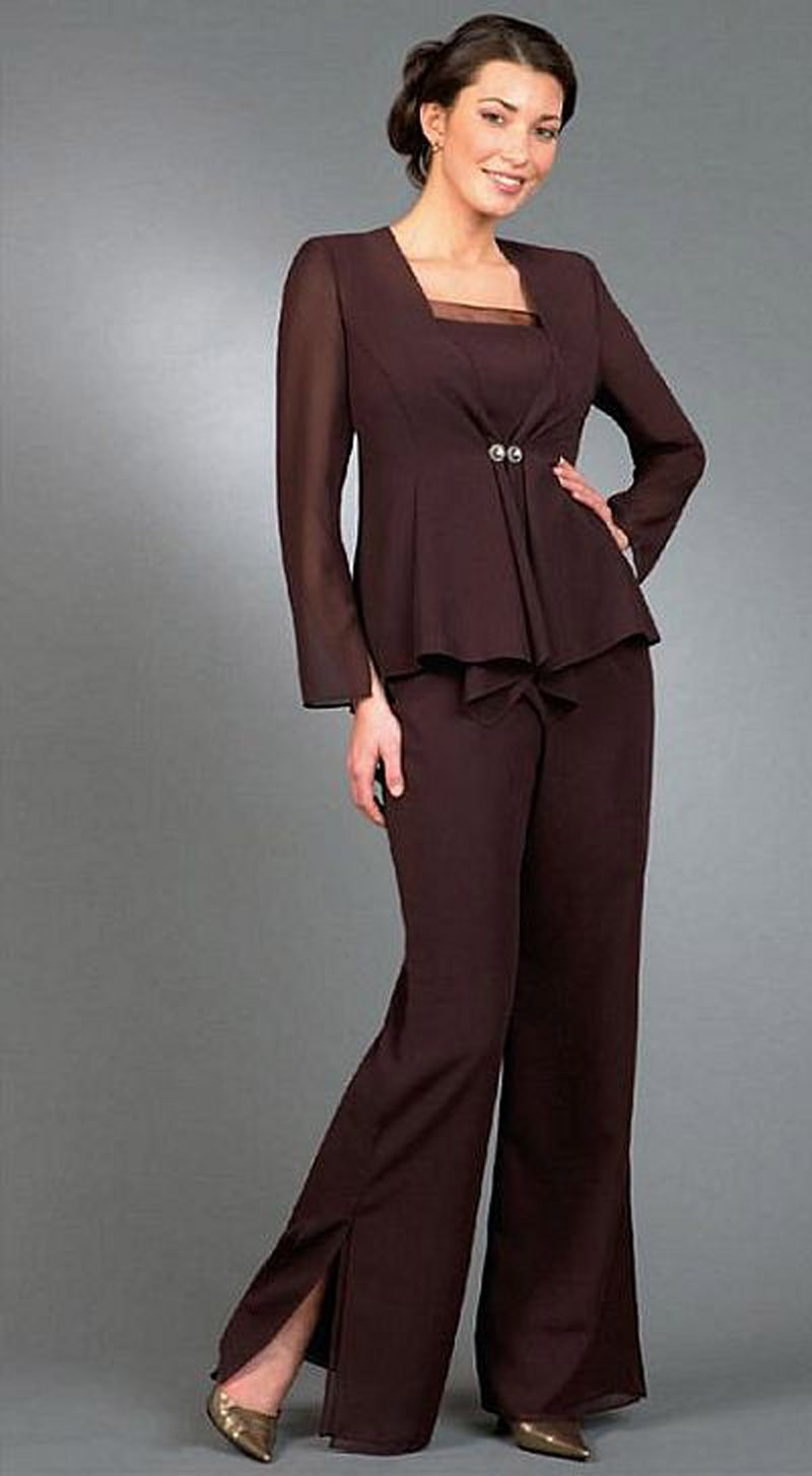 Plus Size Formal Pant Suits and Plus Size Cocktail Pants Suits are a great option if you need to go to a dressier event, a dressy wedding or even for a cruise. They can be the perfect choice when you want to be comfortable but still present an air of professionalism and style for a special occasion.