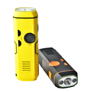 Emergency Hand Crank Flashlight AM FM Portable Radio