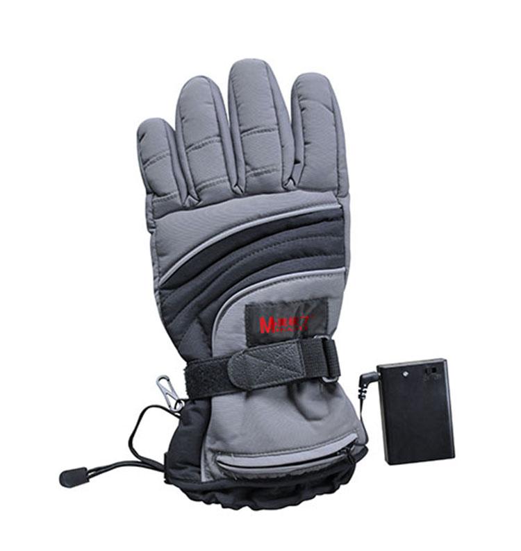 Мотоцикл с подогревом перчатки кожаные мужские водонепроницаемые с подогревом перчатки с батареей комплект