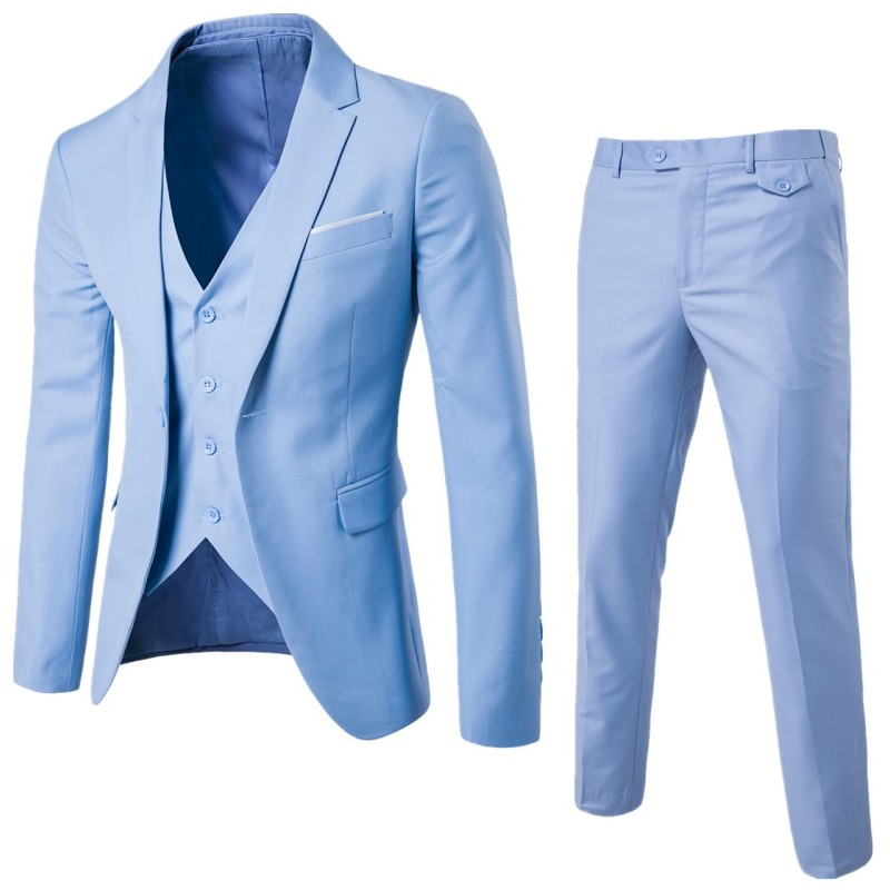 9 цветов S-6XL (пиджак + брюки + жилет) для маленькой девочки мужской свадебный костюм Роскошные приталенные блейзеры классическое праздничное платье деловой повседневный костюм из 3 предметов, EXF001
