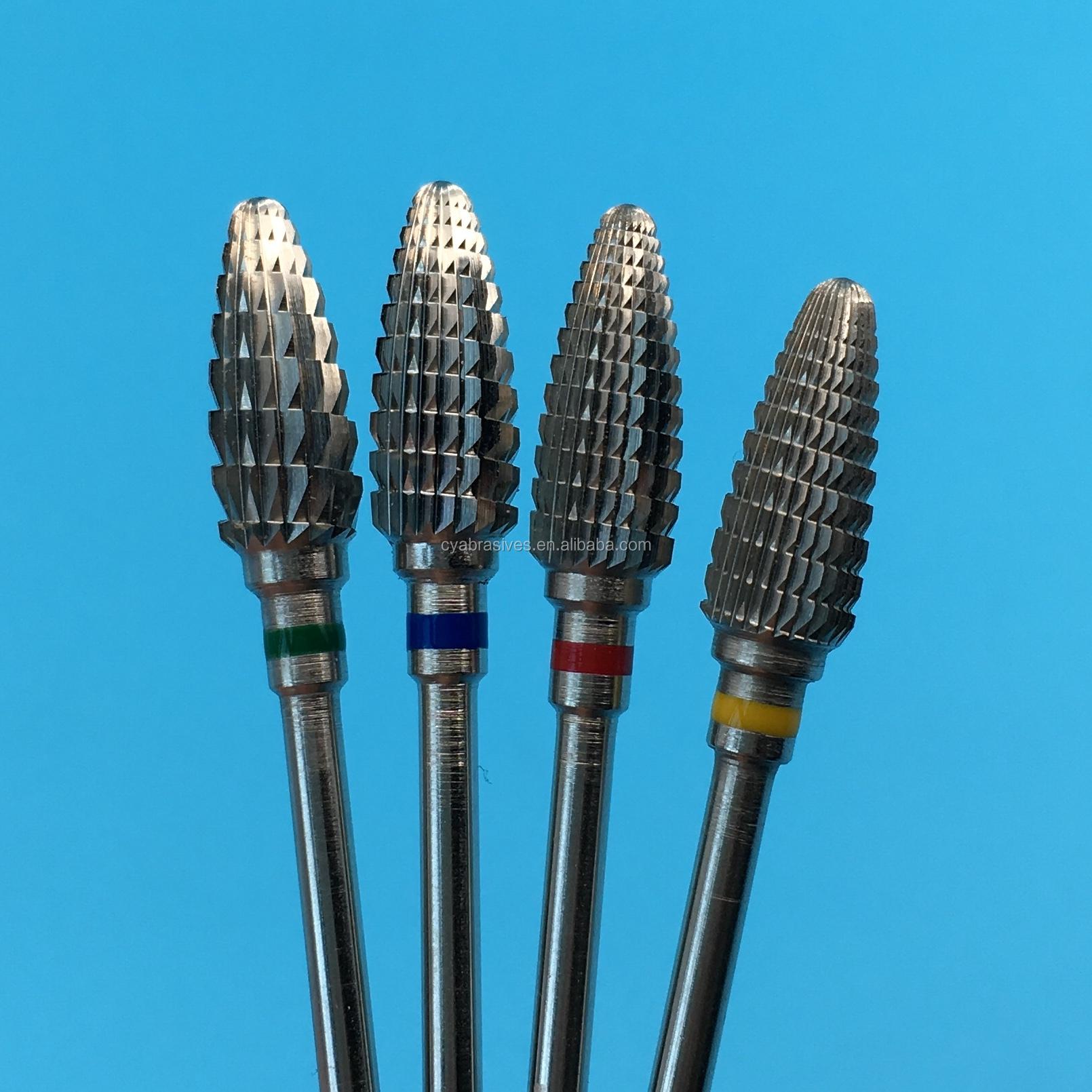 Большие конусные карбидные насадки для ногтей, карбидные вольфрамовые насадки для снятия лака для ногтей