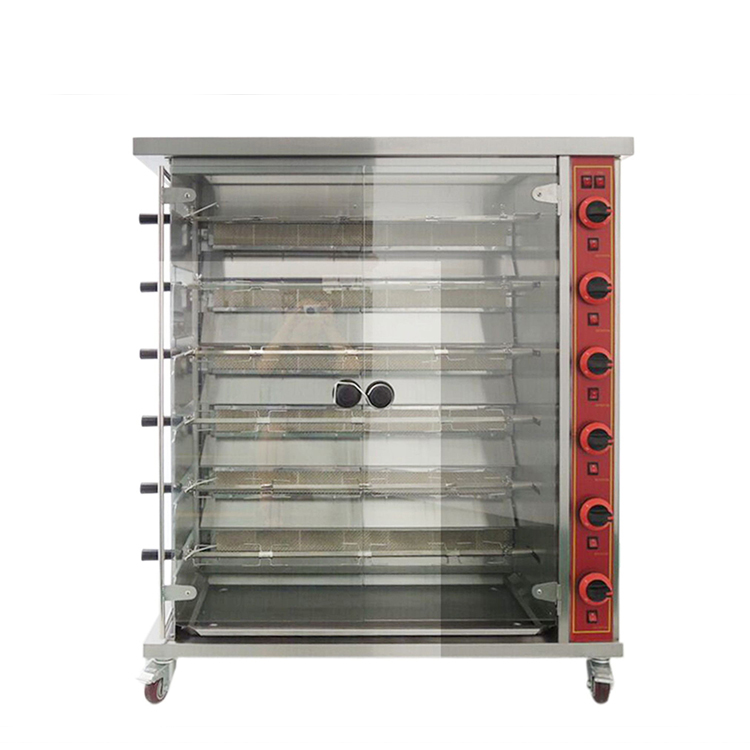 China Manufacturer Stainless Steel 3-Layer Electric/Gas 15 Chicken Rotisserie for Sale