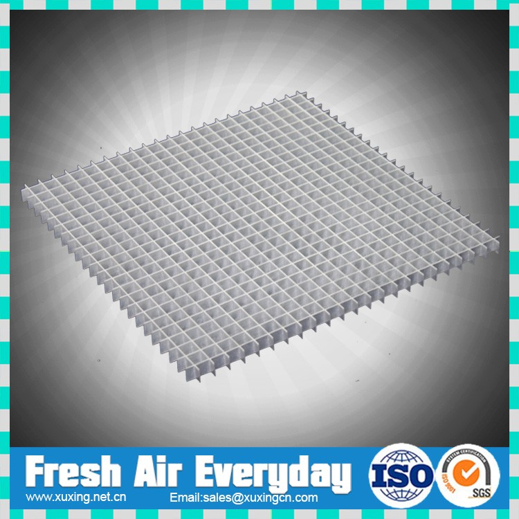 Aluminum 45 Degree Cube Core Eggcrate Ceiling Return Air