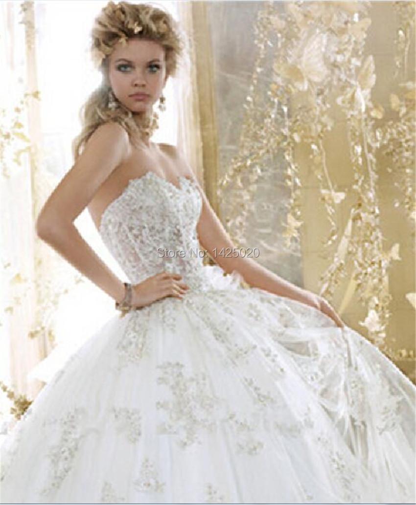 Royal Wedding Ball Gown: 2016 New Arrival Tailor Made Vestido De Noiva Sweetheart