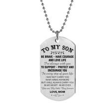 Индивидуальное ожерелье с собачьими бирками папа \ мама к сыну \ даугтер подвеска персонализированное ожерелье металлическая Военная бирка...(Китай)
