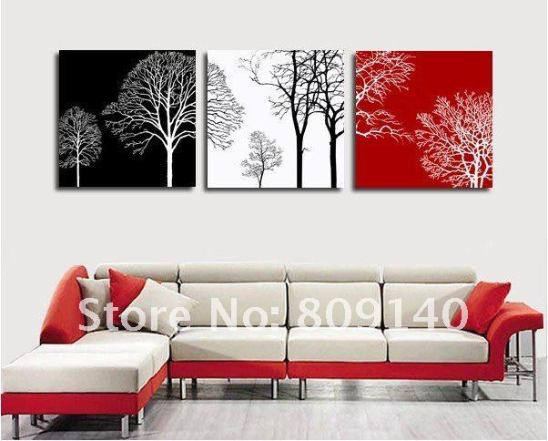 Wall Decoration Tree Painting: Free Shipping Decoration Oil Painting Canvas Abstract Tree