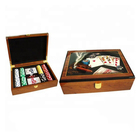 Shenzhen Nice Photo Paper 200 Chips Wooden Poker Set