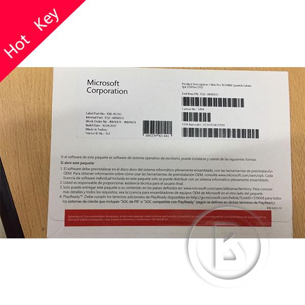 Windows 10 профессиональный OEM полный пакет Английский язык DHL Бесплатная доставка Оригинальный OEM ключ 12 месяцев гарантировано