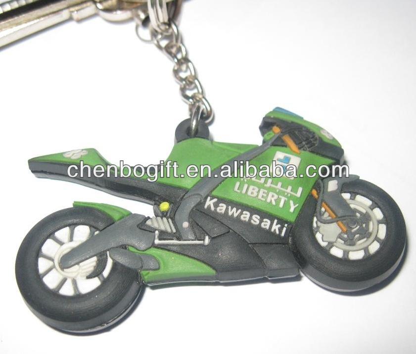 Portachiavi con anello a forma di moto Honda CBR 3D utilizzabile anche come ciondolo per borsa in caucci/ù