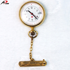 Hang pin dates display gold alloy metal pocket nurse watch