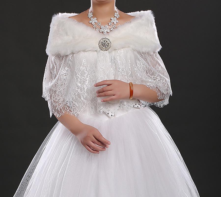 new style white prom dress shrug bridal faux fur lace bolero jackets for prom dresses appliqued. Black Bedroom Furniture Sets. Home Design Ideas