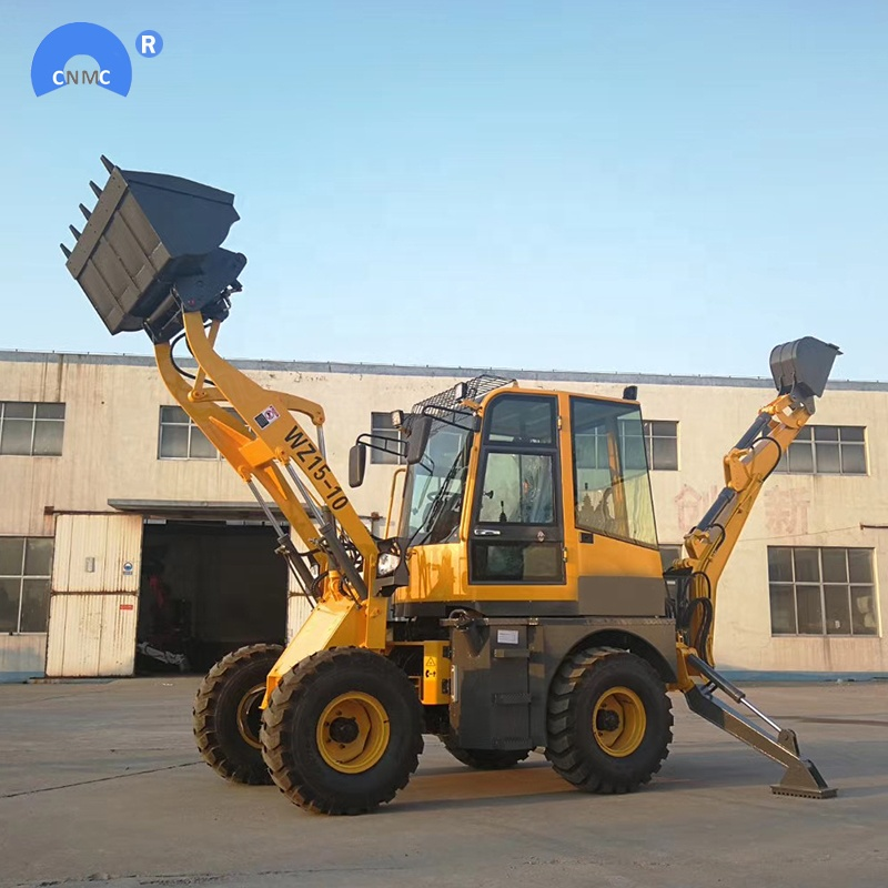 WZ15-10 mini backhoe wheel loader with CE EPA with 4in1 bucket for sale