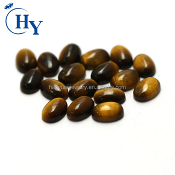 Hot sale well-polished oval cabochon flat cut yellow tiger eye stone price for buyer