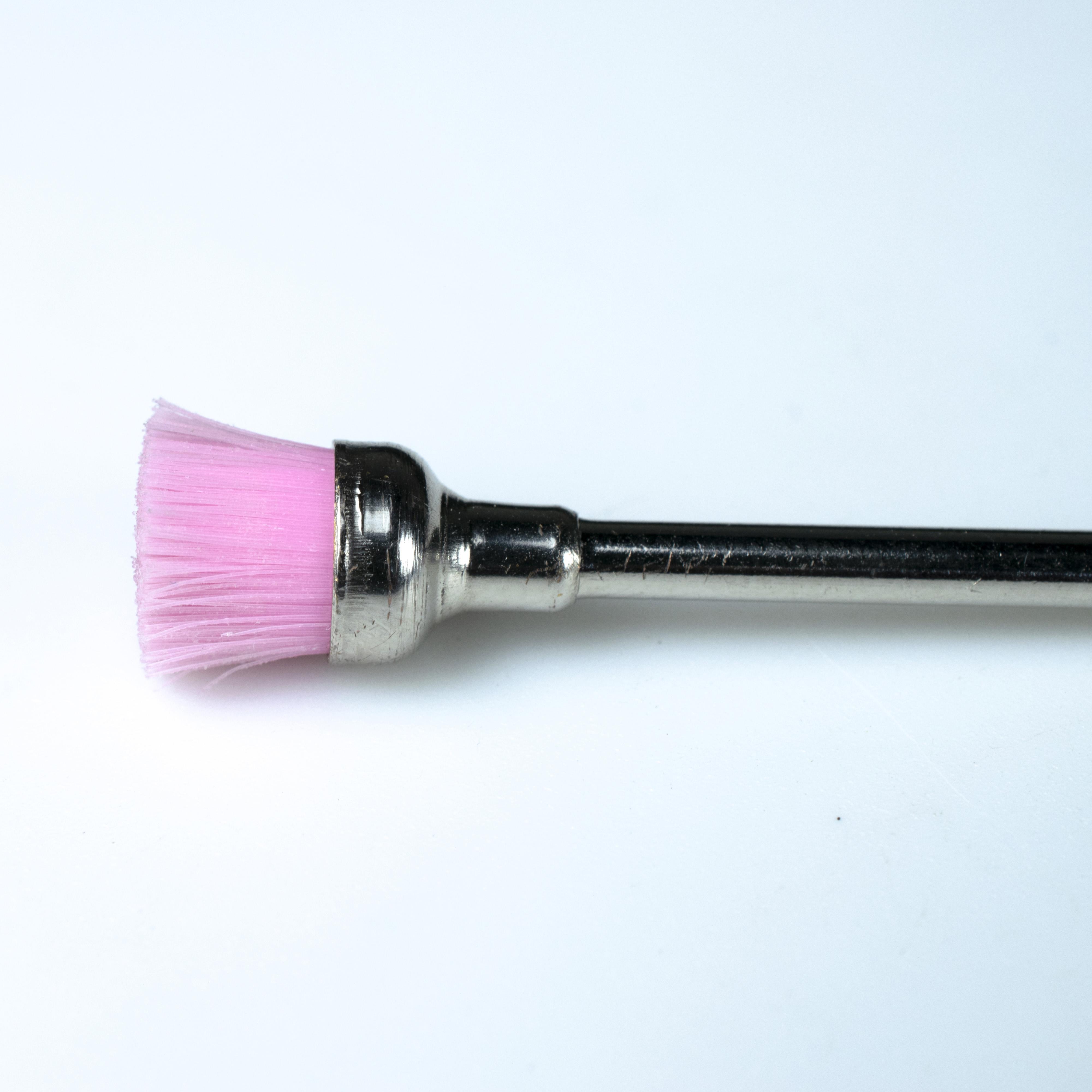 Мини-нейлоновая зубная щетка для удаления кутикулы ногтей
