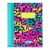 Fluorescent color printing notebook with line printing for inner paper