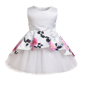 Latest kids cute party wear dresses kids new style christmas party dresses wedding party frocks for girls