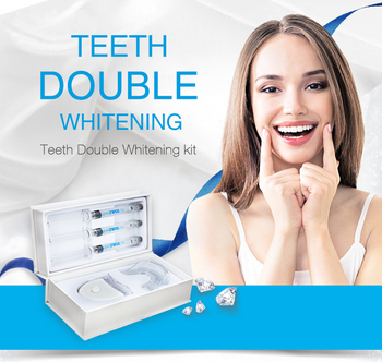 Factory Private Label certifications Approved Home Teeth Whitening Gel LED Light Tooth Bleaching Kit