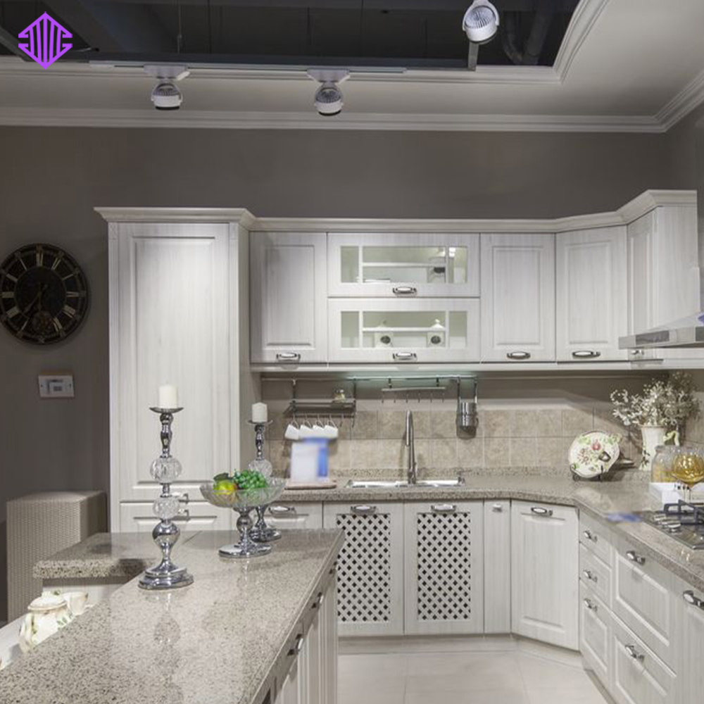 Classic Kitchen Design Pvc Cacuum Forming Cabinet Wooden Kitchen ...